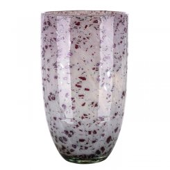 GILDE Glas Art Kegelvase Antique Rose