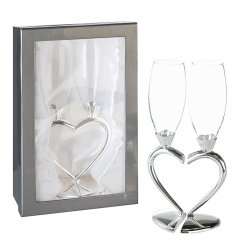 "2er Set Champagnerglas ""Love"""