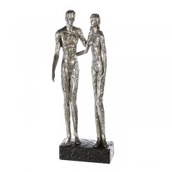 "Skulptur ""Silver Couple"""